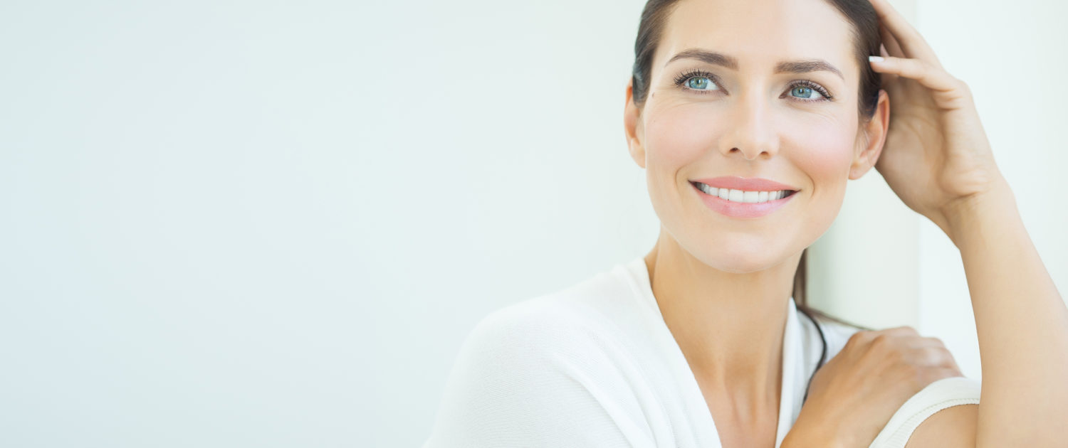 woman smiling banner